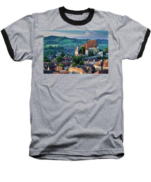 Biertan Church Dawn - Romania Baseball T-Shirt