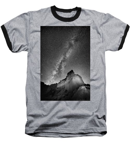 Baseball T-Shirt featuring the photograph Big And Bright In Black And White by Stephen Stookey