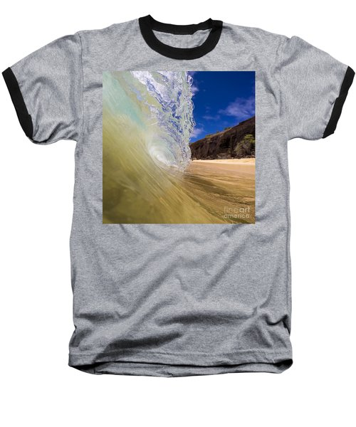 Big Beach Maui Shore Break Wave Baseball T-Shirt