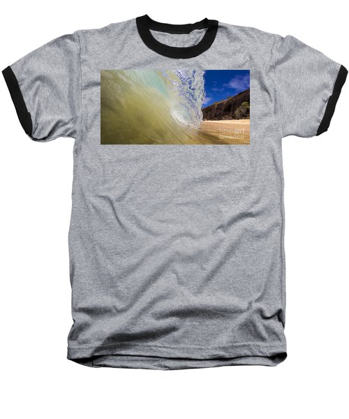 Big Beach Maui Shore Break Wave Wide  Baseball T-Shirt