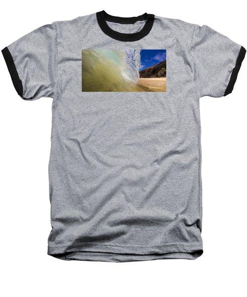 Big Beach Maui Shore Break Wave Wide  Baseball T-Shirt