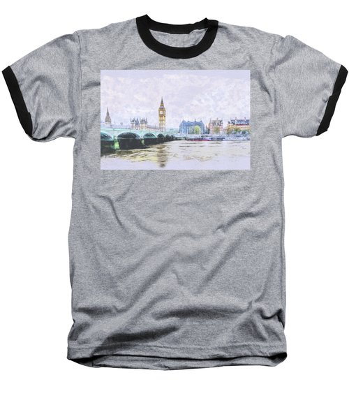 Big Ben And Westminster Bridge London England Baseball T-Shirt