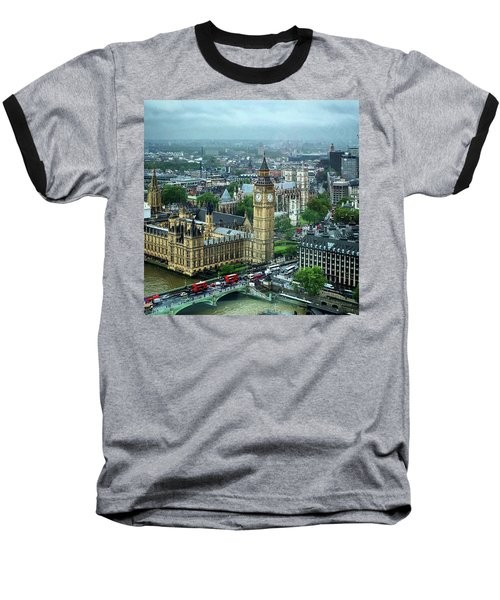Big Ben From The London Eye Baseball T-Shirt