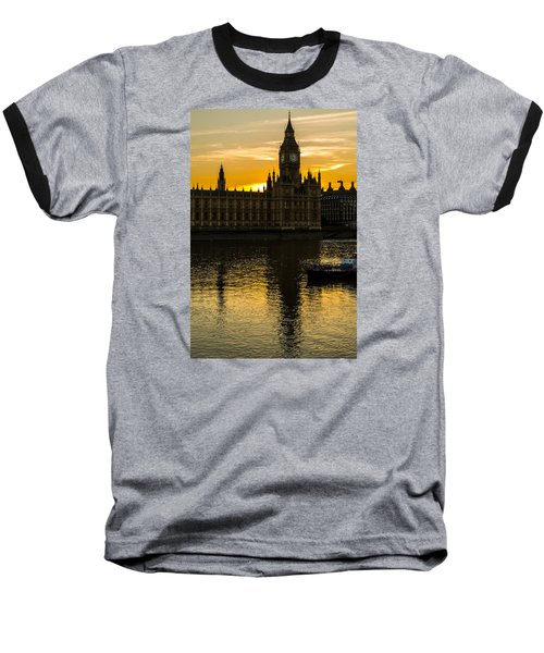 Big Ben Tower Golden Hour In London Baseball T-Shirt