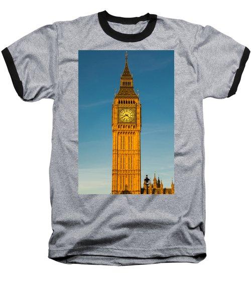 Big Ben Tower Golden Hour London Baseball T-Shirt