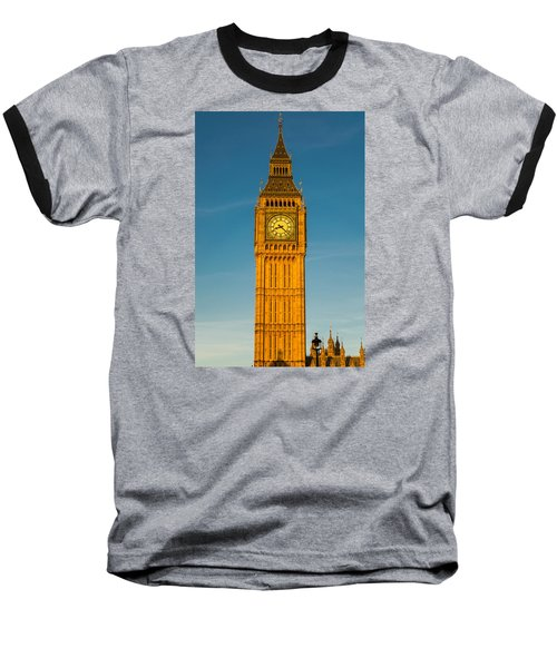 Big Ben Tower Golden Hour London Baseball T-Shirt