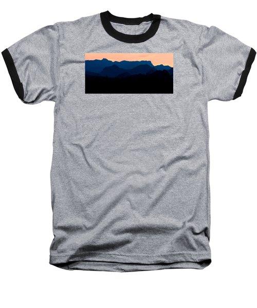 Big Bend Orange Blue Layers Baseball T-Shirt