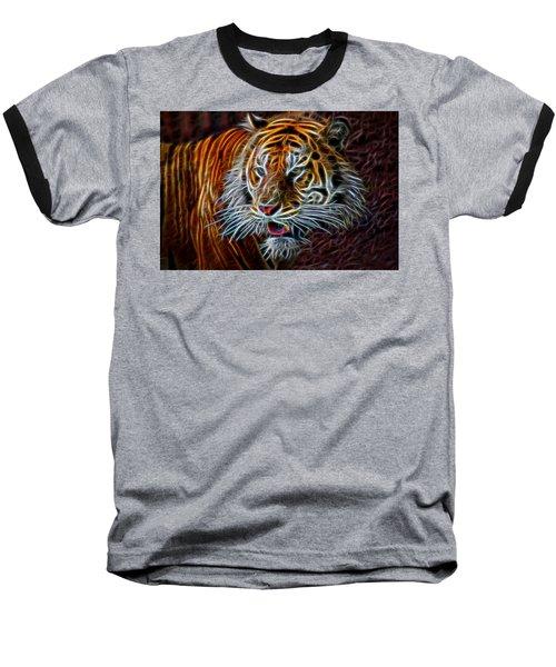 Nature Baseball T-Shirt featuring the digital art Big Cat by Aaron Berg