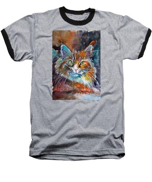 Big Cat Baseball T-Shirt by Kovacs Anna Brigitta