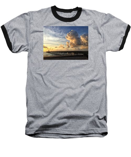 Big Cloud And The Pier, Baseball T-Shirt