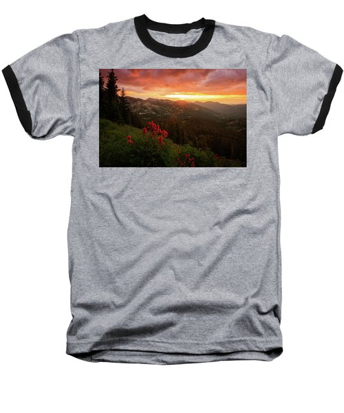 Big Cottonwood Sunset Baseball T-Shirt