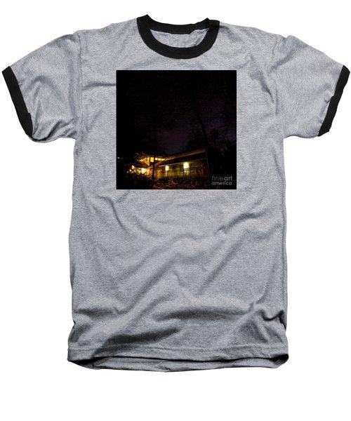Big Dipper Over Hike Inn Baseball T-Shirt by Barbara Bowen