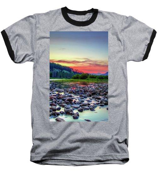 Big Hole River Sunset Baseball T-Shirt