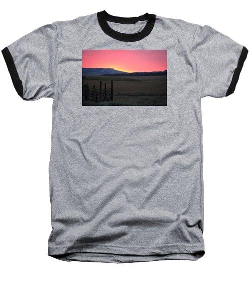 Big Horn Sunrise Baseball T-Shirt by Diane Bohna