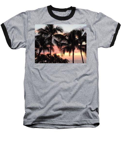 Big Island Sunset 1 Baseball T-Shirt by Karen J Shine