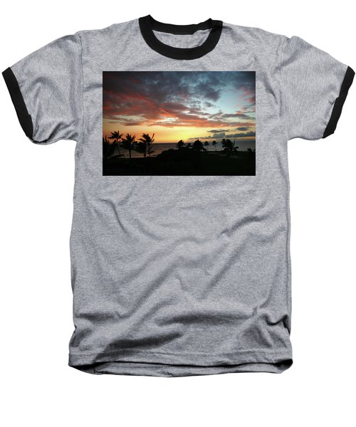 Baseball T-Shirt featuring the photograph Big Island Sunset #2 by Anthony Jones