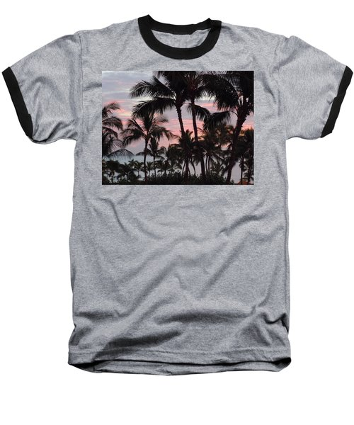 Big Island Sunset 2 Baseball T-Shirt