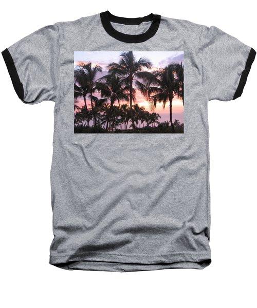 Big Island Sunset 3 Baseball T-Shirt