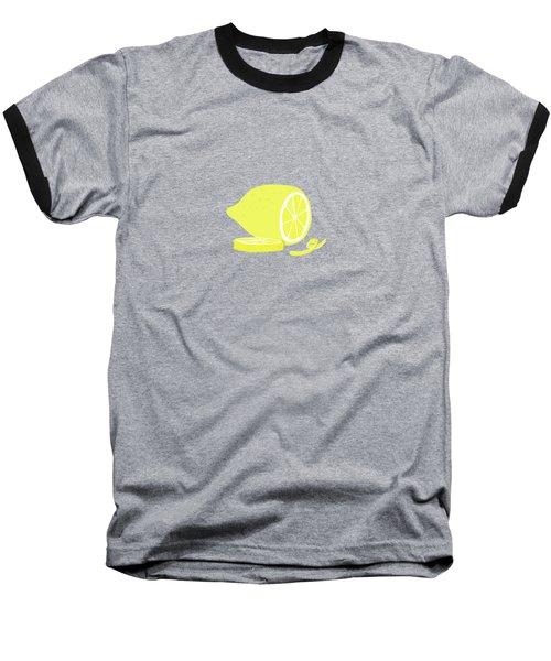 Big Lemon Flavor Baseball T-Shirt by Little Bunny Sunshine