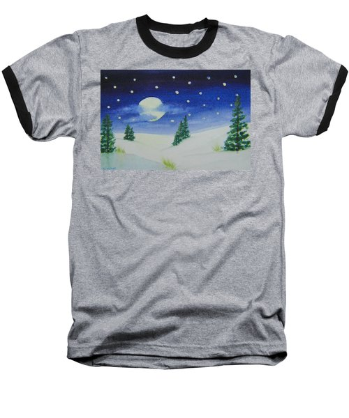 Big Moon Christmas Baseball T-Shirt
