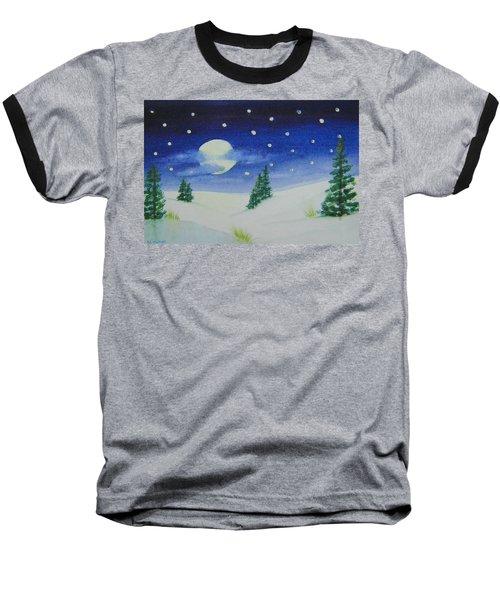 Big Moon Christmas Baseball T-Shirt