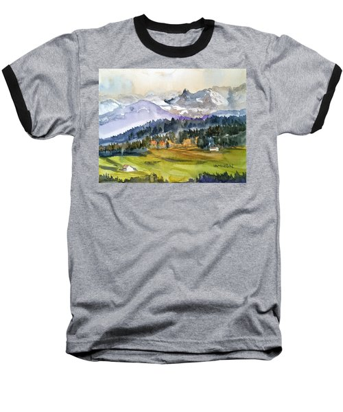 Big Mountain Sunset Baseball T-Shirt
