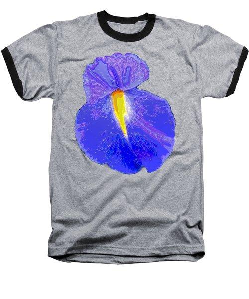Big Mouth Iris Baseball T-Shirt by Marian Bell
