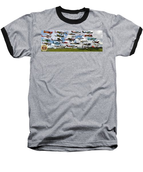 Big Muddy Fly-by Collage Baseball T-Shirt