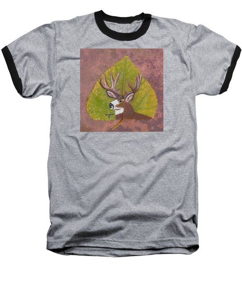 Big Mule Deer Buck Baseball T-Shirt by Ralph Root