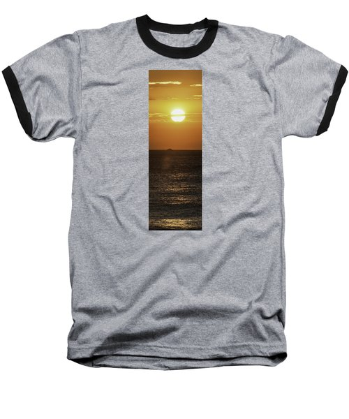 Baseball T-Shirt featuring the photograph Big Ocean Small Boat by Jim Moore