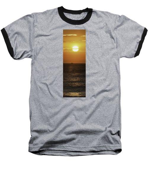 Big Ocean Small Boat Baseball T-Shirt by Jim Moore