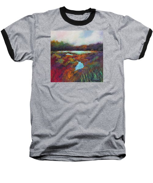 Big Pond In Fall Mc Cormick Woods Baseball T-Shirt by Marti Green