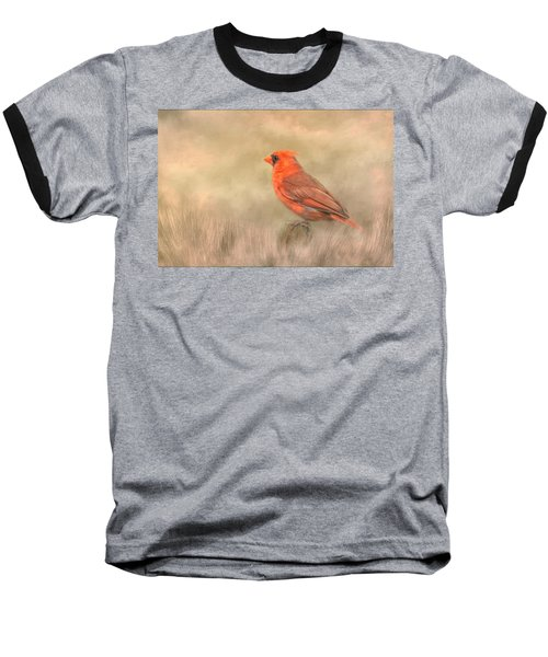 Baseball T-Shirt featuring the mixed media Big Red by Steven Richardson