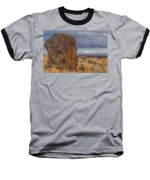 Big Rock At Lava Beds Baseball T-Shirt