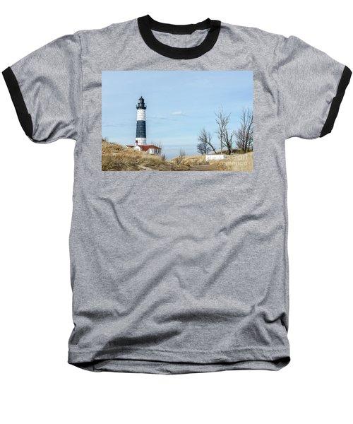 Big Sable Point Lighthouse And Tower Baseball T-Shirt