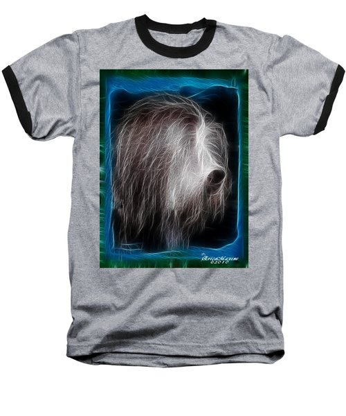 Baseball T-Shirt featuring the photograph Big Shaggy Dog by EricaMaxine  Price