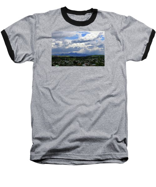 Big Sky Over Oamaru Town Baseball T-Shirt