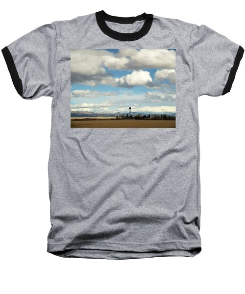 Big Sky Water Tower Baseball T-Shirt