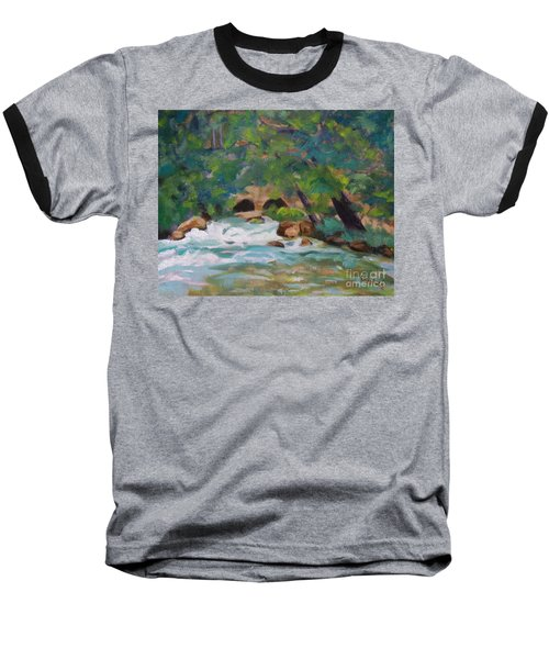Big Spring On The Current River Baseball T-Shirt by Jan Bennicoff