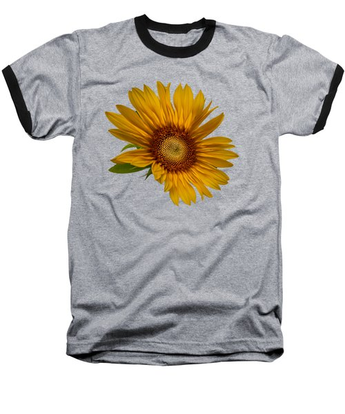 Big Sunflower Baseball T-Shirt by Debra and Dave Vanderlaan