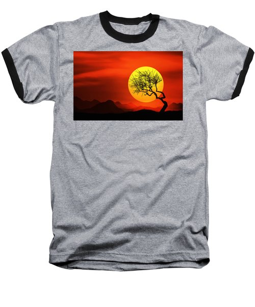 Big Sunset Baseball T-Shirt by Bess Hamiti