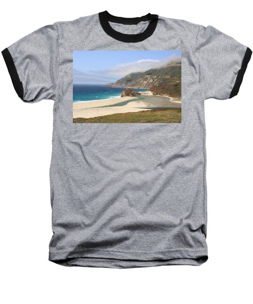 Big Sur Beach Baseball T-Shirt by Lou Ford