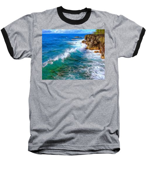 Big Sur Coastline Baseball T-Shirt by Dominic Piperata