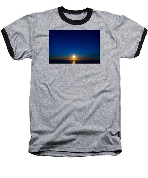 Big Sur Moonset Baseball T-Shirt