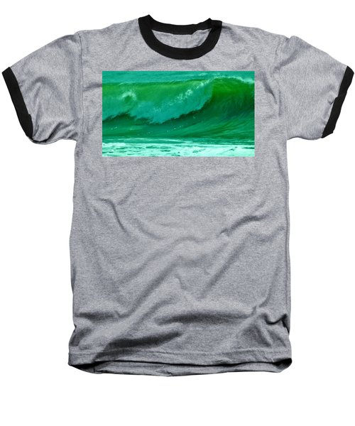 Big Surf 2 Baseball T-Shirt by John Wartman