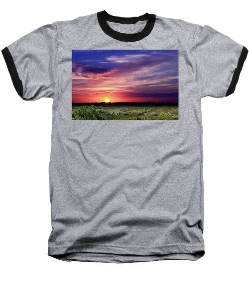 Big Texas Sky Baseball T-Shirt