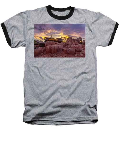 Big Thunder Mountain Sunset Baseball T-Shirt