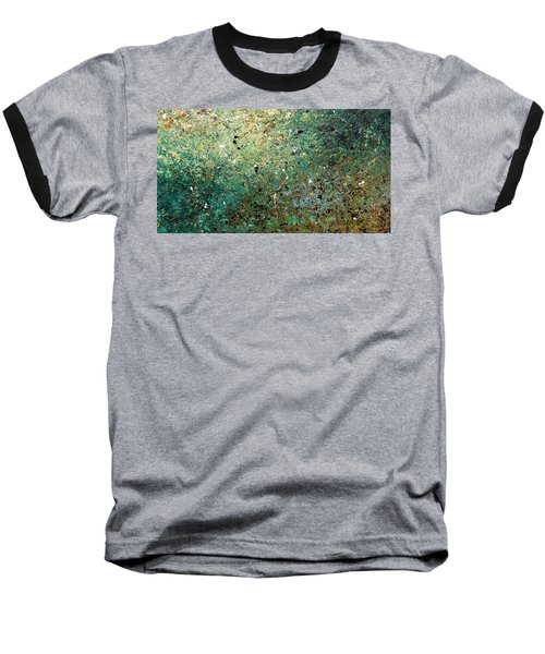 Baseball T-Shirt featuring the painting Big Universe - Abstract Art by Carmen Guedez