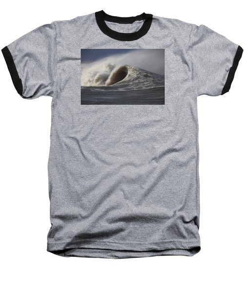 Big Waves #2 Baseball T-Shirt by Mark Alder