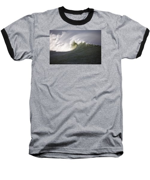 Big Waves #3 Baseball T-Shirt by Mark Alder